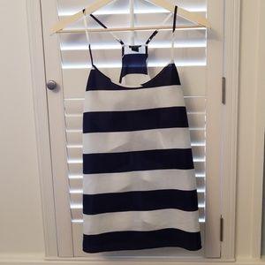 J. Crew Blue & White Striped Blouse